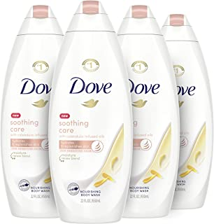 Dove Soothing Care Body Wash for Sensitive Skin with Calendula-Infused Oils Hydrates and Replenishes Skin Sulfate Free 22 ...