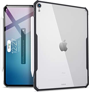 TineeOwl iPad Pro 12.9-inch (2018 Release, 3rd Generation) Ultra-Slim Clear Case, Supports Apple Pencil Wireless Charging [Absorbs Shock] Flexible TPU, Lightweight by (Black)