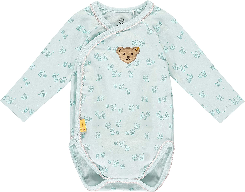 Steiff Baby-M/ädchen Mit S/ü/ßer teddyb/ärapplikation Body Langarm