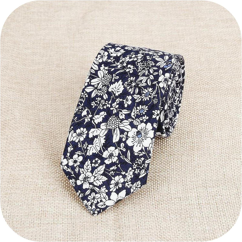 Classic Men's Flower Ties Handmade Cotton Tie Men 6CM Narrow Floral Neckties Gift Wedding Party Casual Gravatas Paisley