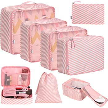 G4Free Kleidertaschen-Set Reisetasche in Koffer W/äschebeutel Schuhbeutel Kosmetik Aufbewahrungstasche