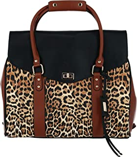 Badgley Mischka Leopard Weekender Bag, Leopard