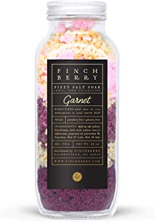 Finchberry Fizzy Bath Salt Soak, Dead Sea Salts with Bath Bomb Effect for Relaxation and to Ease Sore Muscles, Luxury Spa ...