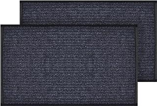 Cosyearn 2-Pack Striped Rubber Door Mat,17x29.5,Large Front Door Rug,Easy Clean, Waterproof,Durable Doormat for Indoor and...