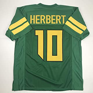 Unsigned Justin Herbert Oregon Green Custom Stitched College Football Jersey Size Men's XL New No Brands/Logos