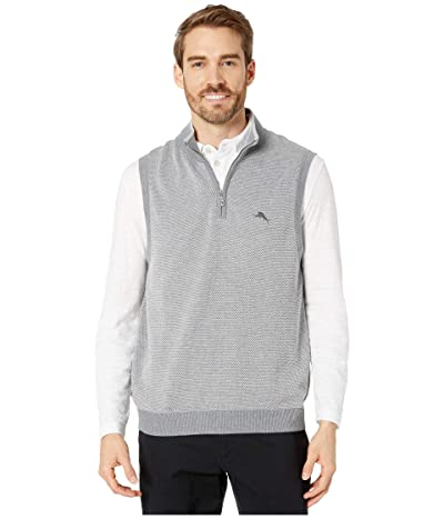 Tommy Bahama Islandzone Coolside Vest (Light Grey Heather) Men
