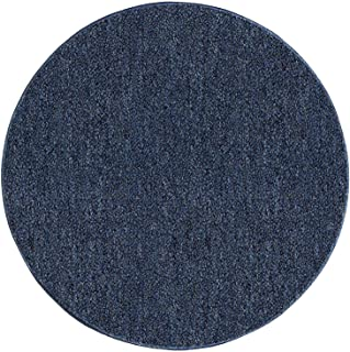 Ambiant Broadway Collection Pet Friendly Indoor Outdoor Area Rugs Petrol Blue - 3' Round
