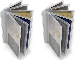 Set of 2 Clear Premium Quality Wallet Insert from AG Wallets (Trifold 6 Page)