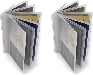 Set of 2 Heavy Duty Vinyl 6 Pages TriFold Mens Wallet Inserts 2.75'' X 3.75''