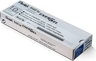 Pentel Refill Ink for BL60 EnerGel Liquid Gel Pen, 1.0mm, Metal Tip, Blue Ink, Box of 12 (LR10-C-12)