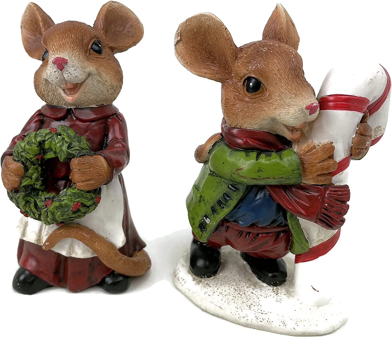 Set of Department store 2 Holiday Mouse Figures Ranking TOP7 Resin 4.5