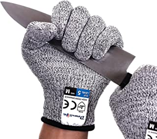 Dowellife Cut Resistant Gloves Food Grade Level 5 Protection, Safety Kitchen Cuts Gloves..
