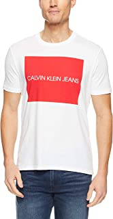CALVIN KLEIN Men's Large Transfer Logo Crew Tee