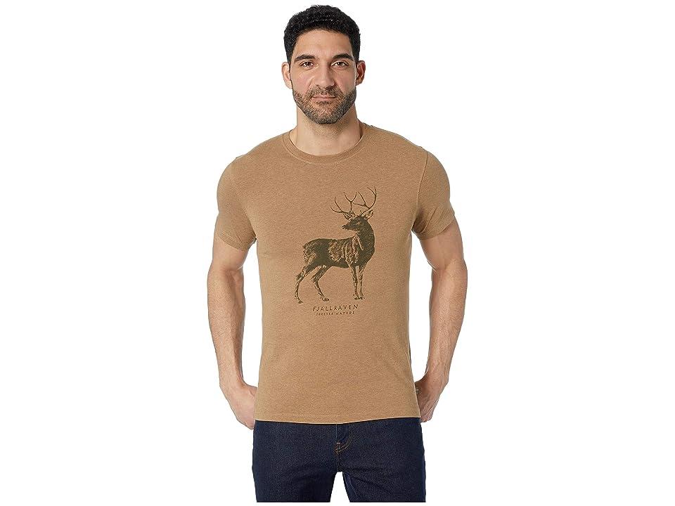 Fjallraven Deer Print T-Shirt (Dark Sand) Men