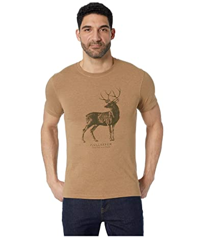 Fjallraven Deer Print T-Shirt (Dark Sand) Men