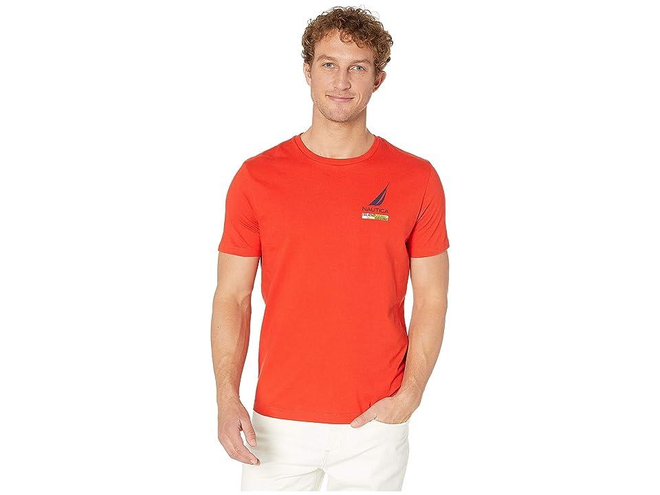 Nautica Lonely Lei Lounge T-Shirt (Firey Red) Men