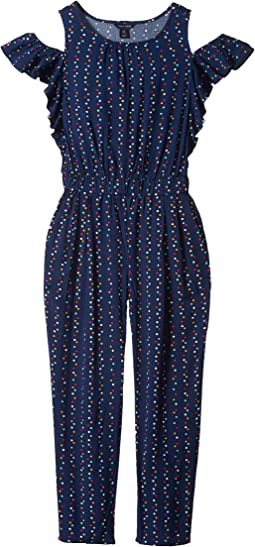 Tommy Hilfiger Kids - Dot Printed Jumpsuit (Big Kids)