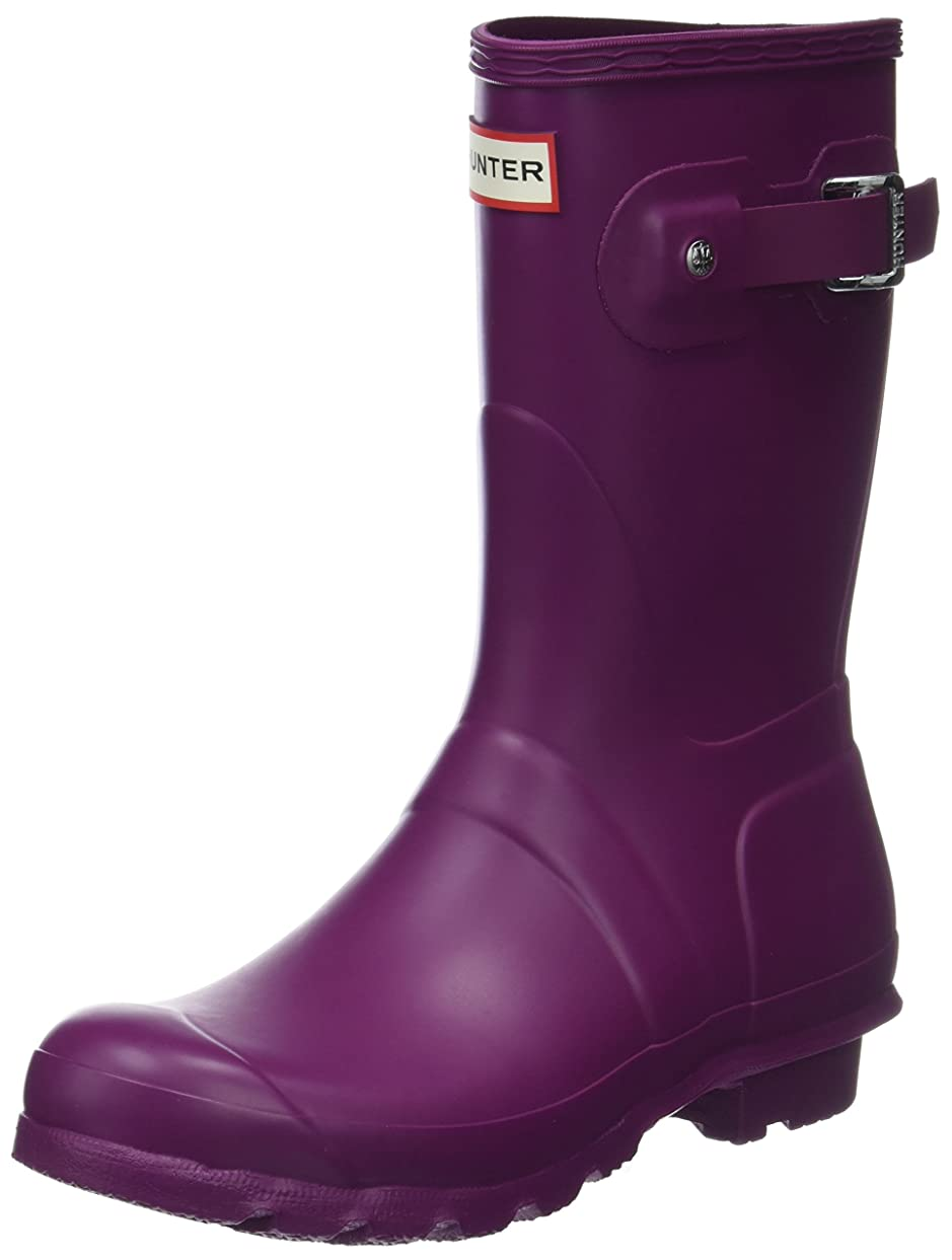 確認するロケーション変数Hunter Women's Original Short Matte Violet Mid-Calf Rubber Rain Boot - 10M
