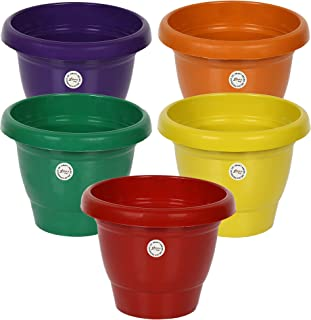 Kraft Seeds Gardening 8 inch Plastic Pots for your Garden and Home