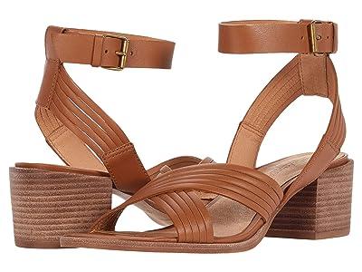 Madewell Olson Multi Strap Heeled Ankle Strap Sandal (English Saddle) Women