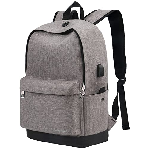 1700a38fcd Vancropak Backpack, Travel Water Resistant School Backpacks with USB  Charging Port, Canvas College Student