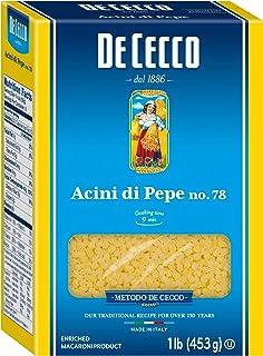 De Cecco Semolina Pasta, Acini Di Pepe No.78, 1 Pound (Pack of 5)
