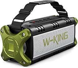 Bluetooth Speaker, W-KING 50W Super Loud Portable Bluetooth Speaker Waterproof IPX6 with 8000mAh Power Bank/Punchy Bass, O...