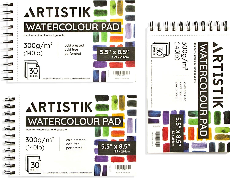 Artistik Premium Watercolor Pad - Pack 3 5.5