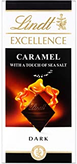 Lindt Excellence Caramel Sea Salt Chocolate, 100 gm (Pack of 1)