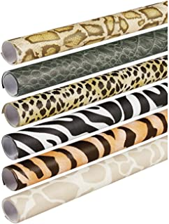 Pacon Fadeless Safari Prints Art Paper, 2-Feet by 8-Feet rolls, 6 Assorted Designs (56920)