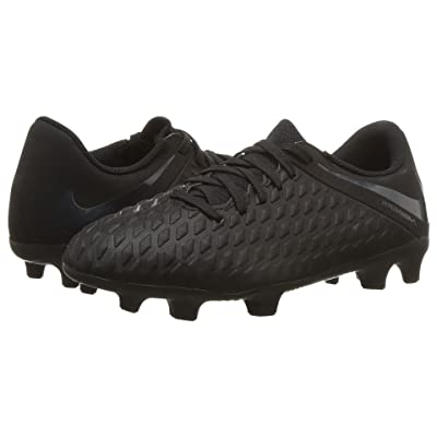 Nike Kids Hypervenom Phantom 3 Club Firm Ground Soccer (Toddler/Little Kid/Big Kid) (Black/Black/Light Crimson) Kids Shoes