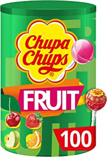Chupa Chups Lollipops Fruity Flavour, 100 Pieces, 1200g
