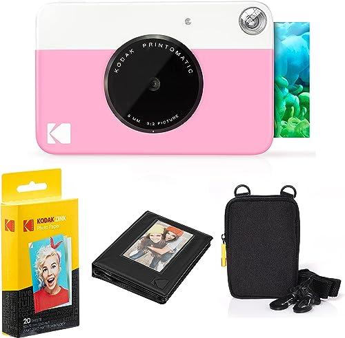 2021 Kodak Printomatic Instant Camera Bundle (Pink) Zink Paper high quality (20 Sheets) - Case - Photo Album popular - Hanging Frames. sale