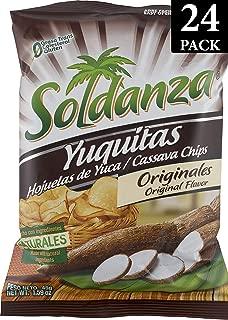 Soldanza Cassava Root (Yuca) Chips, 1.6 Ounce (Pack of 24)