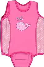 Aquawarm Pink Neoprene Baby's Warm Wetsuit w/UV Protection – Infant's Safest Swimsuit