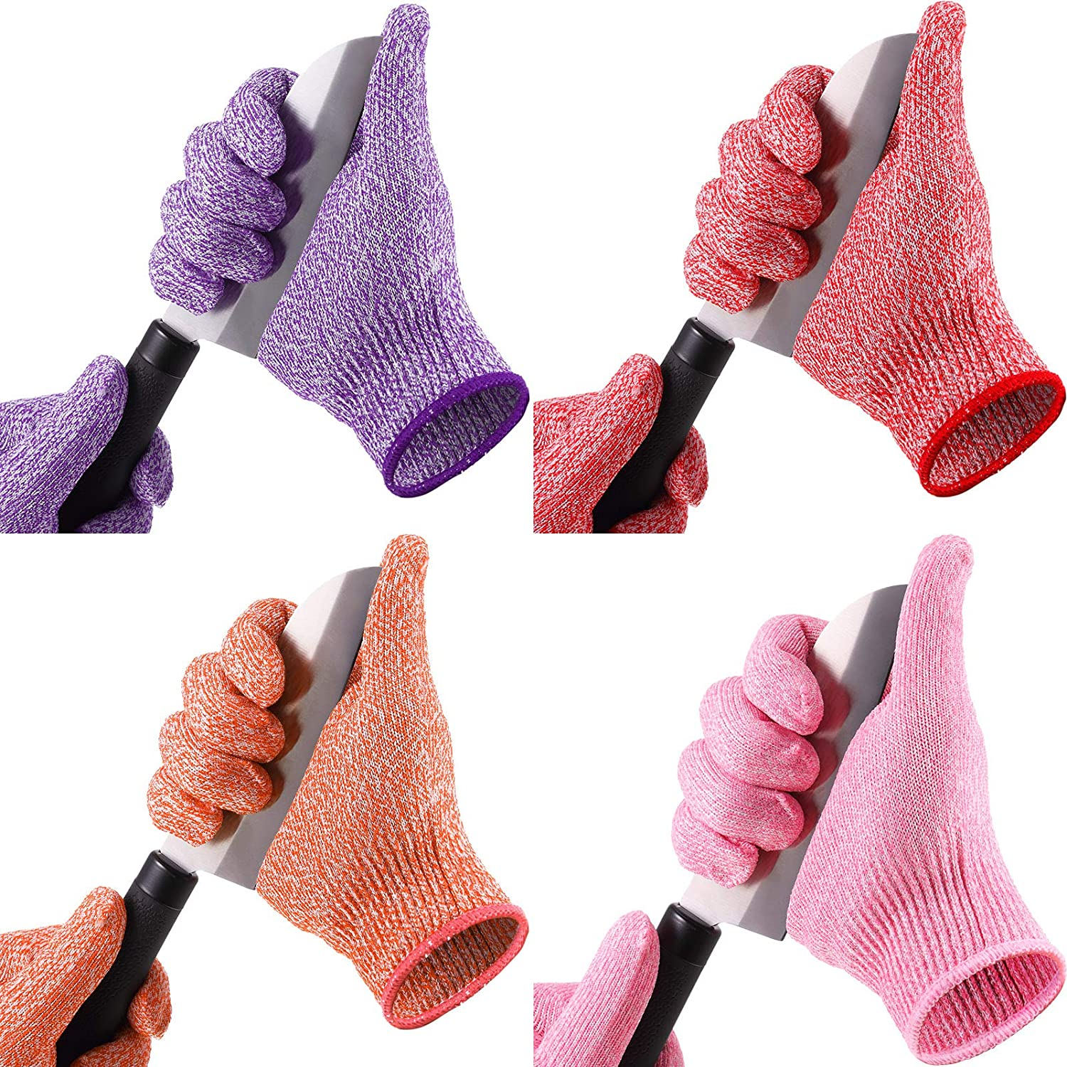 4 Pairs Cut Resistant Gloves Raleigh Mall Cutting We OFFer at cheap prices Level Safety Kitchen