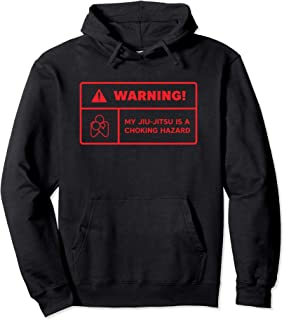 Warning Choking Label BJJ Hoodie Brazilian Jiu Jitsu Sweater