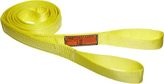 2 Ply 12 Length x 2 Width 6400 lbs Vertical Load Capacity Stren-Flex EET2-902CW-12 Type 4 Heavy Duty Nylon Twisted Eye and Eye Completely Wrapped Web Sling Yellow