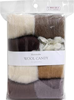 Hamanaka wool Candy 8 color set (Antique Brown) # 3 (japan import)