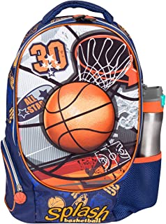 MB ALL STAR - Kids Backpack with 3D Basketball Elementary School Book Bag for Boys