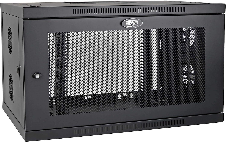 Tripp Lite 9U Wallmount Rack Enclosure Server Cabinet Wide Cable Management