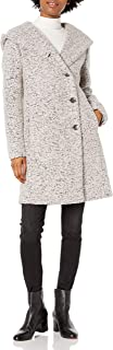 معطف نسائي من Cole Haan مع أزرار أمامية على الكتف