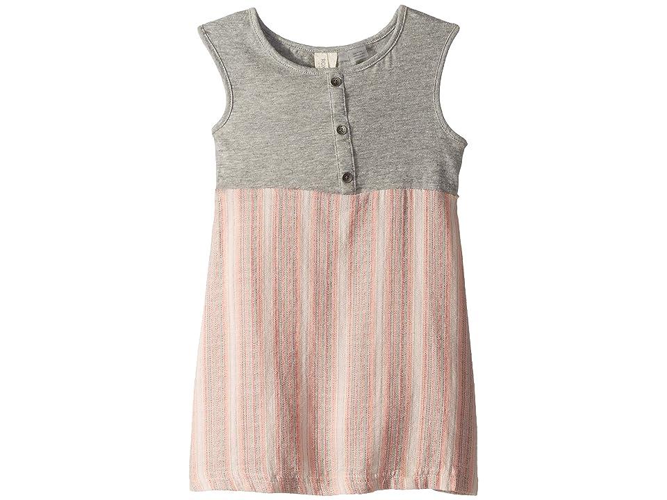 Roxy Kids Sun and Waves Dress (Toddler/Little Kids/Big Kids) (Cloud Pink Multistripes) Girl