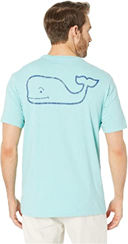 Short Sleeve Heathered Vintage Whale Pocket Tee