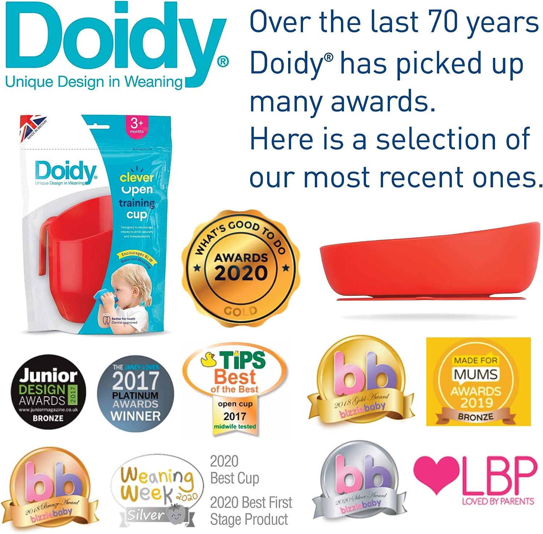 Utilisation de 6 mois /à la petite enfance Bol pour b/éb/é antid/érapant avec bords en pente /élev/és Doidy Baby Bowl en silicone Bol daspiration souple et flexible pour le sevrage Rose
