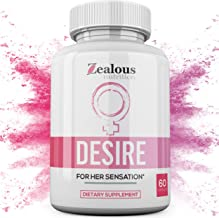 Desire - Libido Enhancer for Women | Female Natural Intimacy Supplement Capsules for Drive, Performance, Strength, Stamina, Energy, and Improved Sleep | L Arginine, Ashwagandha, Bio-Pennetta - 60 Caps
