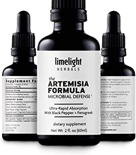 Sponsored Ad - The Artemisia Formula: Purified Artemisinin, Sweet Wormwood Artemisia, Cryptolepis, Bidens, Yarrow 98% Abso...