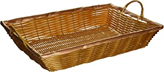 Winco PWBN-16B 16-Inch by 11-Inch by 3-Inch Rectangular Woven Basket with Handles