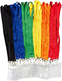 Juvale 24 Pack Neck Lanyards with Waterproof Card Cases