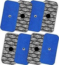 TENSPAD SILVER 8 elettrodi con Disegno Argento per Compex, 50x100mm con 1 connettore Snap